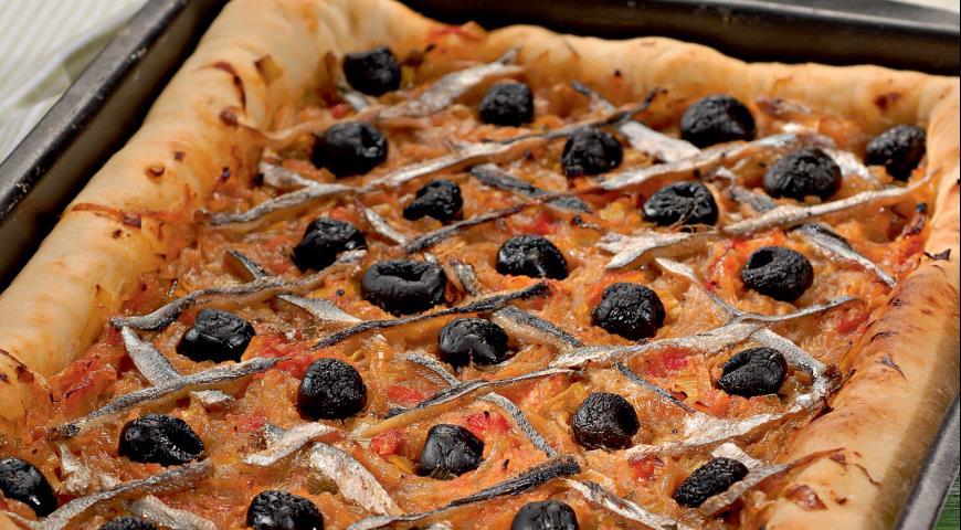 Писсаладьер, provensálské cibule koláč