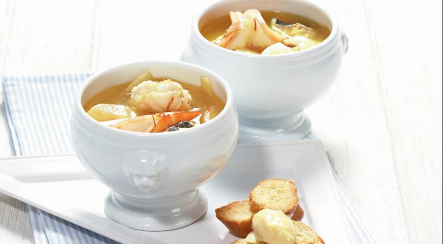 Bouillabaisse, vis soep